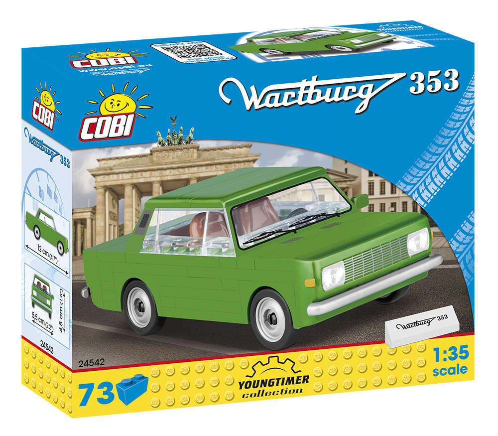 Cobi 24542 DDR Wartburg 353  (Youngtimer Collection) Pad printed- no Stickers