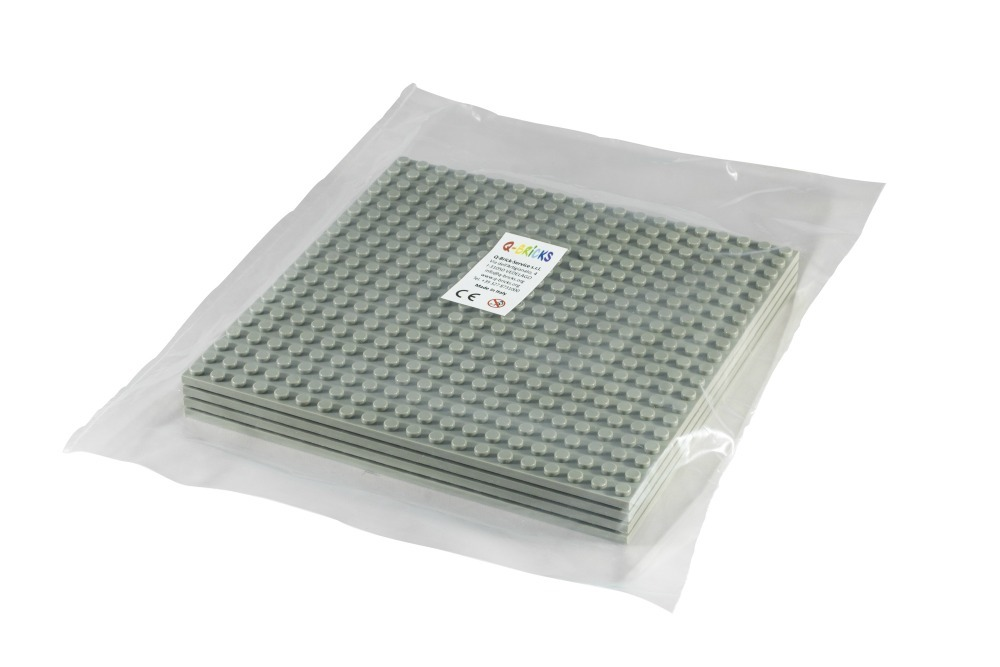 Q-Bricks Stackable Baseplate ca.16x16cm 20x20 Noppen 4er Pack