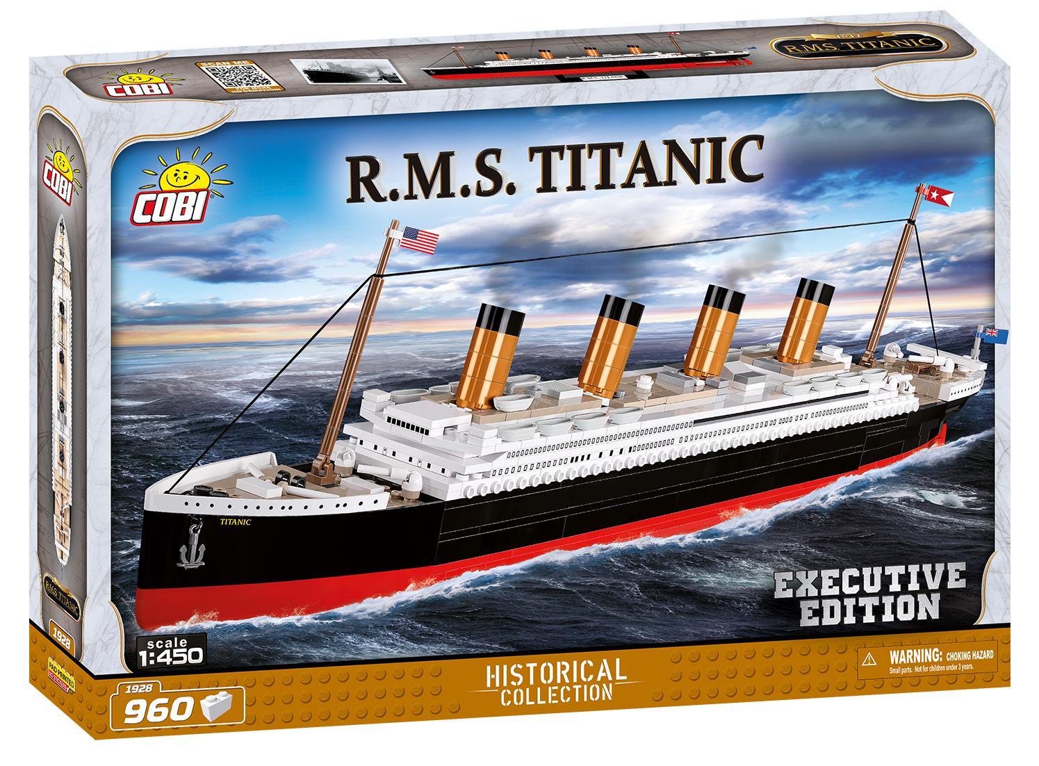 Cobi 1928 Titanic Executive Edition Pad printed -no Stickers