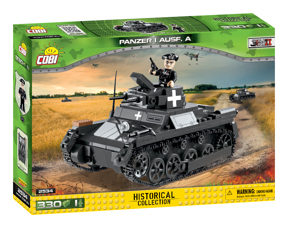 Cobi 2534 Panzer I Ausf. A  Pad printed - no Stickers (Historical Collection, WWII)