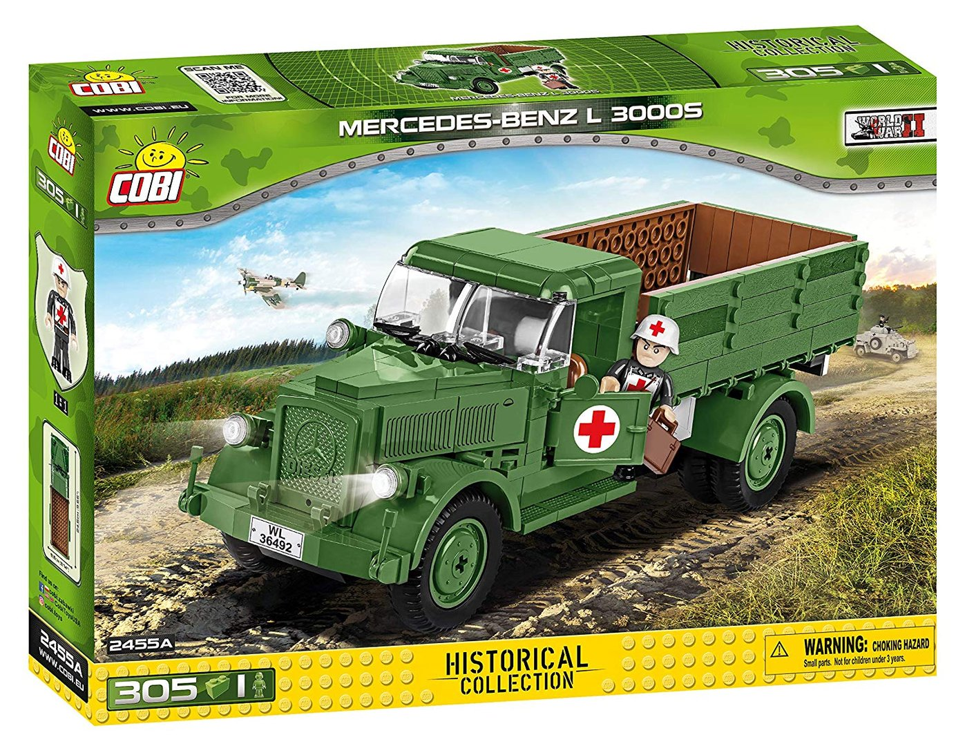 Cobi 2455A Mercedes Benz L3000 Pad printed - no Stickers (Historical Collection WWII) New Version