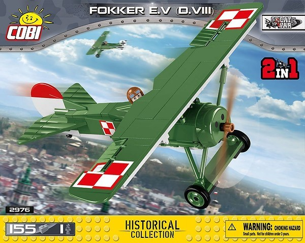 Cobi 2976A  Fokker E.V (D.VIII)  (Small Army Historical Collection WWI)