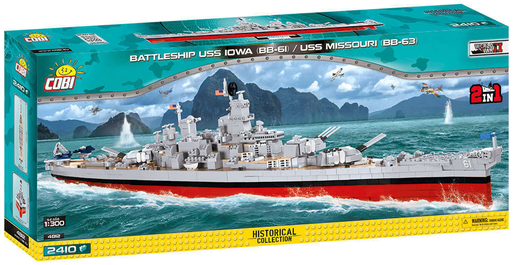 Cobi 4812 Battleship USS Iowa / Missouri  Schlachtschiff (Historical Collection )