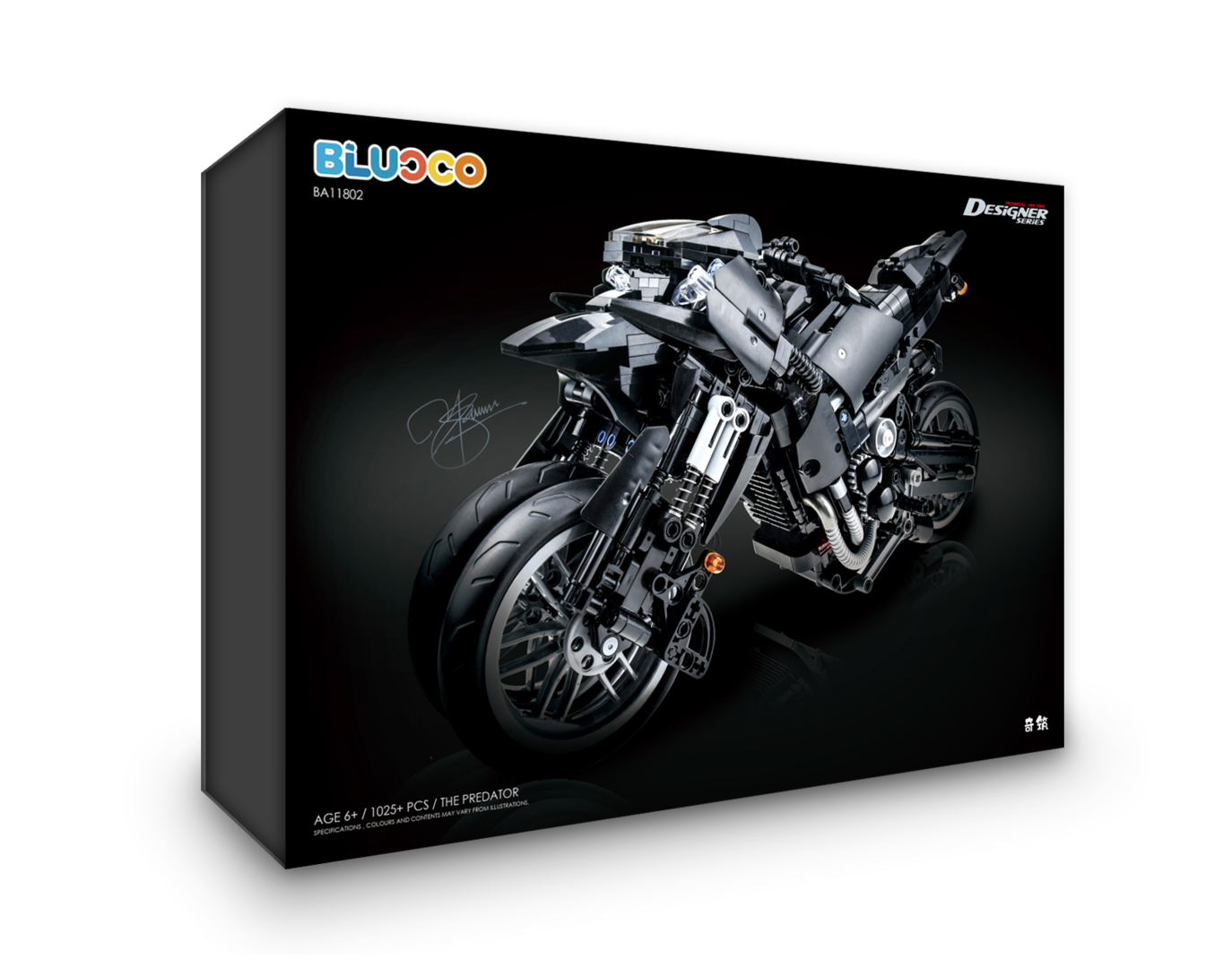 DECOOL BLUoco BA11802 The Predator - Black Muscle Bike