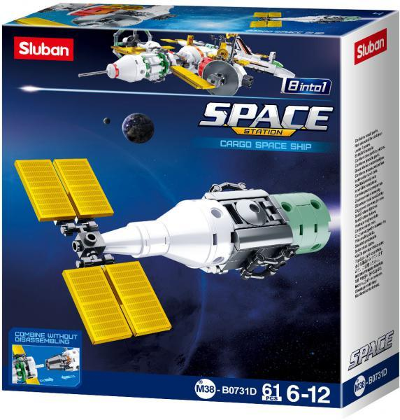 Sluban Space  M38-B0731D Satellit Cargo Space Ship  8 into