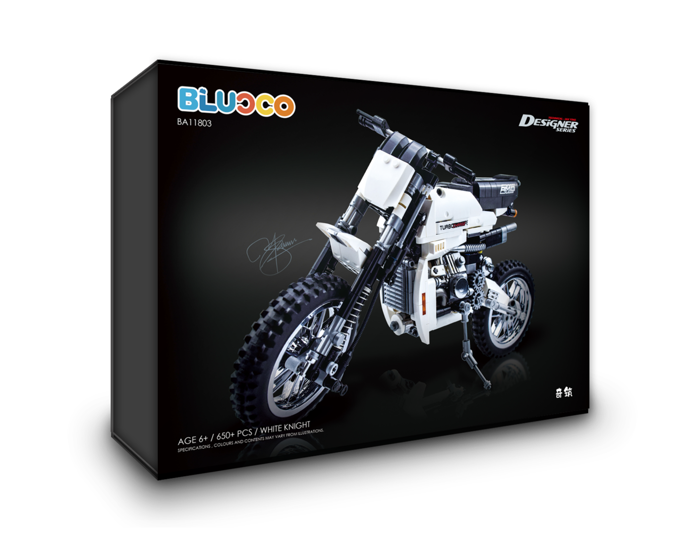 DECOOL BLUoco BA11803 White Knight - Dirt Bike
