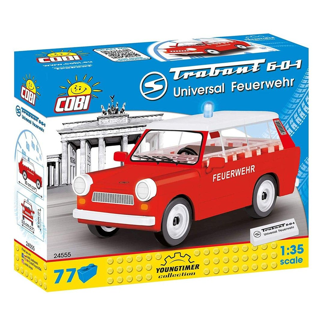 """Cobi 24555 DDR Trabant 601 Feuerwehr """"Trabi"""" (Youngtimer Collection)"""
