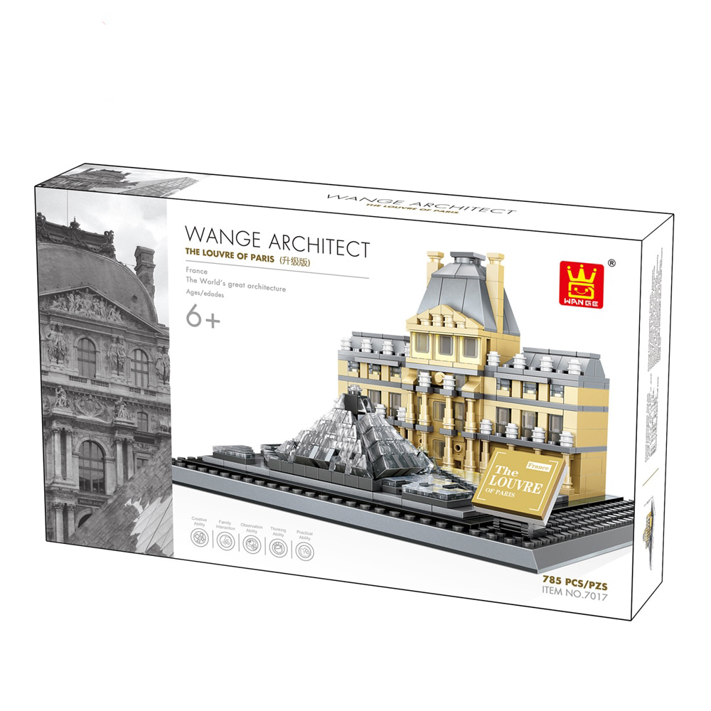 Wange 4213 Architect-Set The Louvre of Paris
