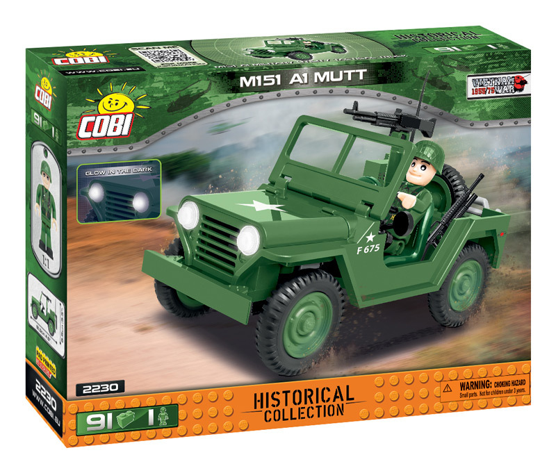 Cobi 2230 M151 A1 MUTT (Historical Collection Vietnam War) Pad printed - no Stickers