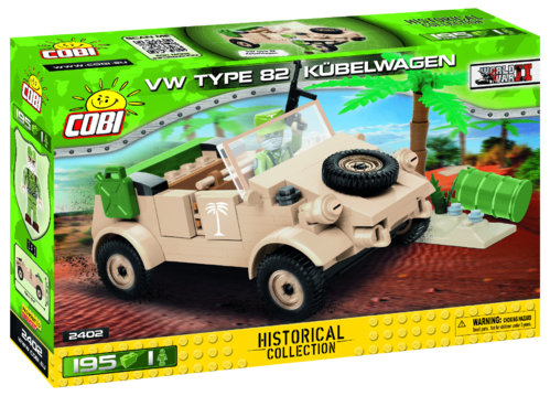Cobi 2402 VW TYPE 82 Kübelwagen Pad printed - no Stickers (Historical Collection WWII)