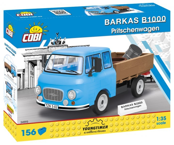 Cobi 24593 Barkas B1000 Pritschenwagen Pad printed (Youngtimer Collection)