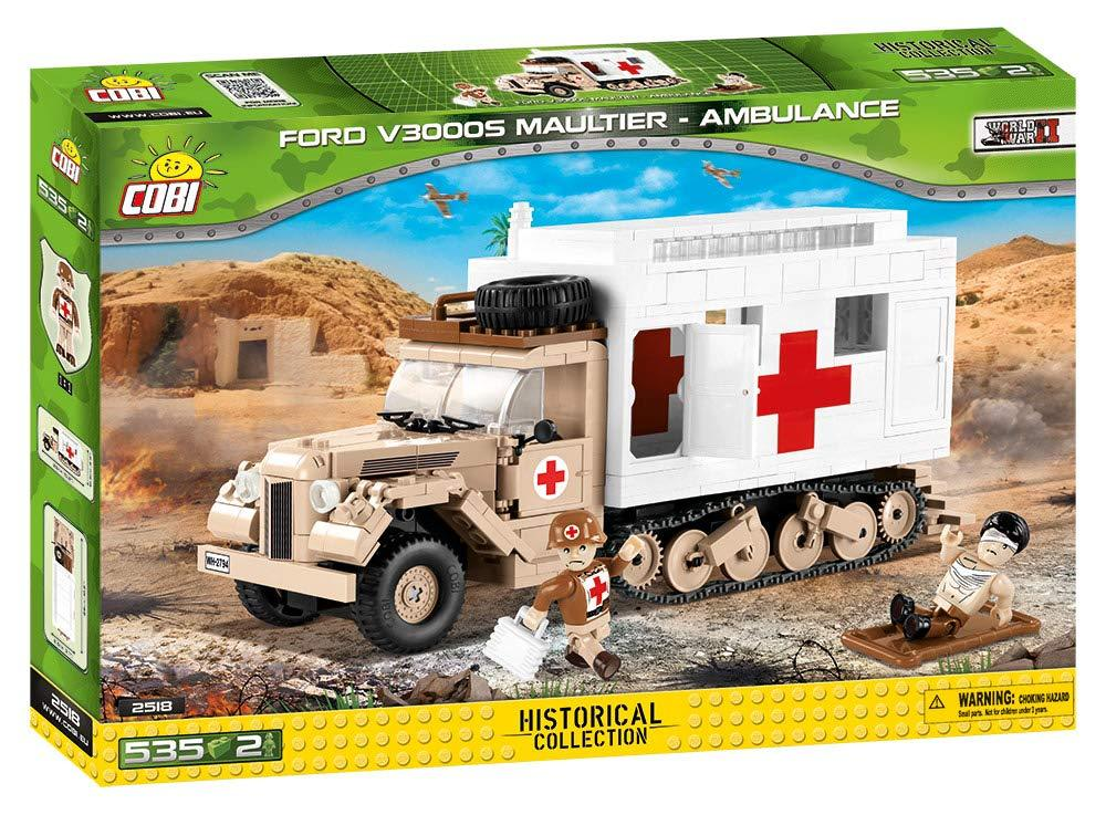 Cobi 2518 Ford V3000S Maultier - Ambulance Pad printed - no Stickers (Historical Collection)