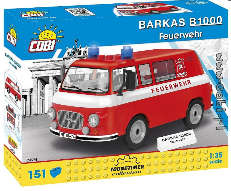 Cobi 24594 Barkas B1000 Feuerwehr Pad printed (Youngtimer Collection)