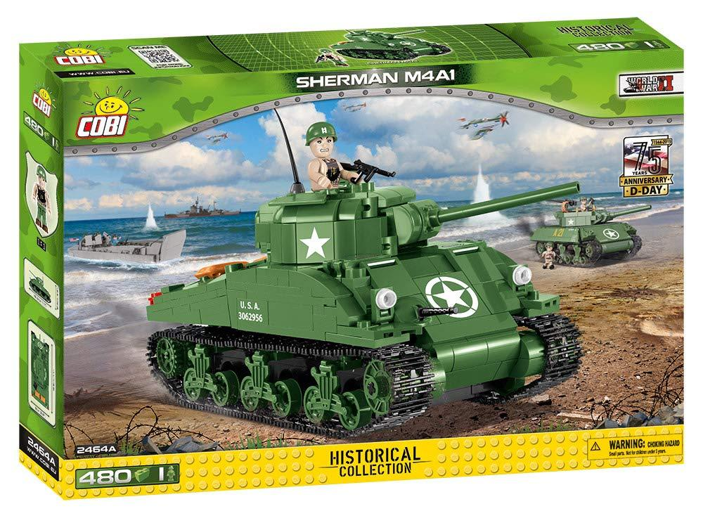 Cobi 2464A US-Panzer Sherman M4A1 (Historical Collection WWII)
