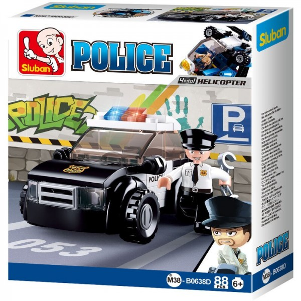 Sluban M38-B0638D City Police Polizeiauto