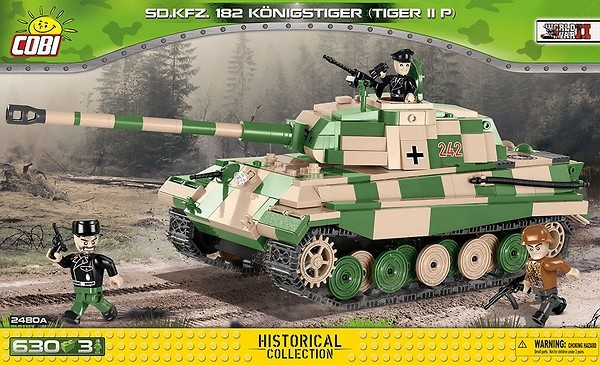 Cobi 2480A SD.KFZ. 182 Königstiger  Tiger II P Pad printed - no Stickers /Historical Collection WWII