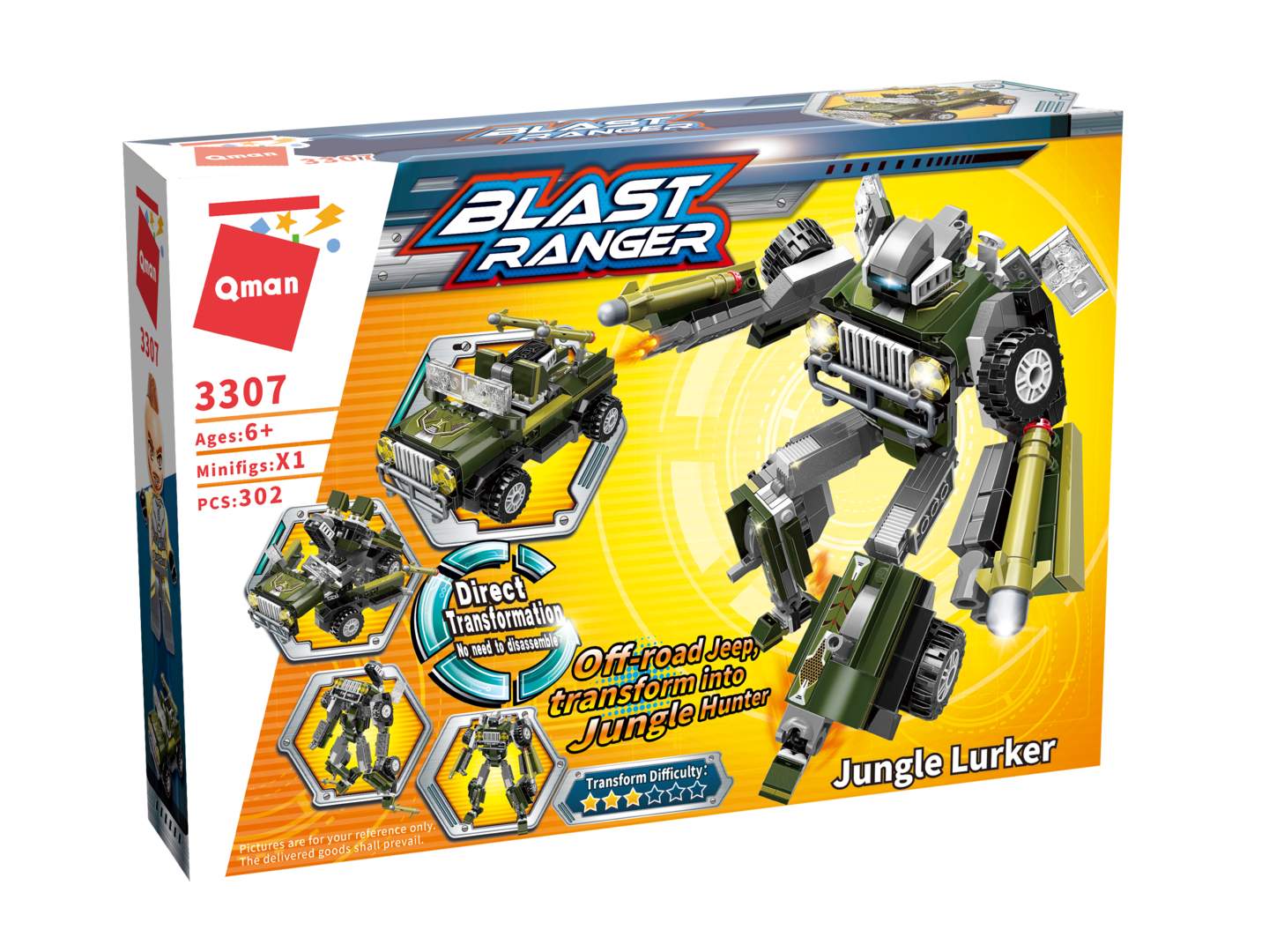 Qman 3307 Transform Blast Ranger Jungle Lurker