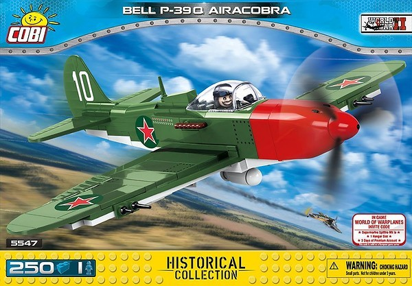 Cobi 5547 US Army Bell P-39 AirCobra  (Historical Collection - WWII - Planes)