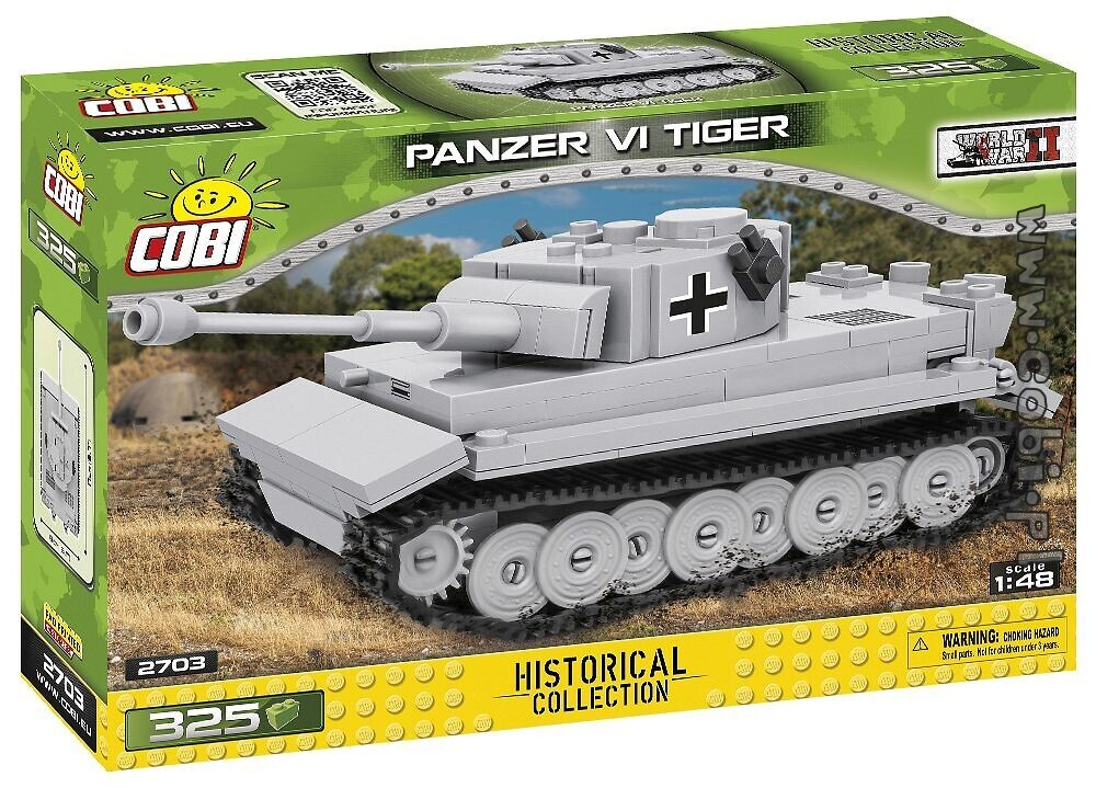 Cobi 2703 Panzer VI TIGER Scale 1:48 Pad printed - no Stickers (Historical Collection WWII)