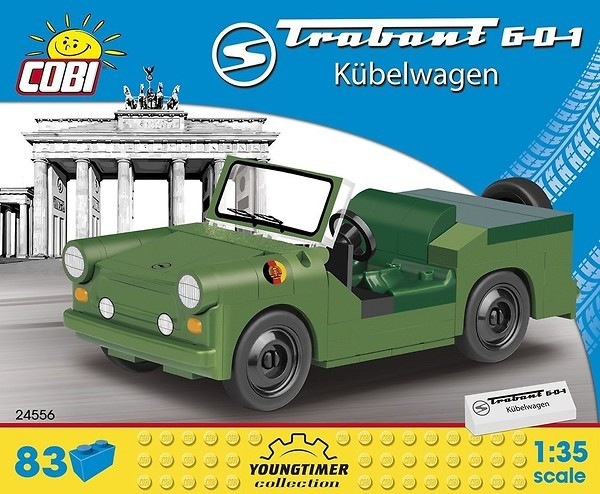Cobi 24556 Trabant 601 Kübelwagen No Stickers - Pad printed (Youngtimer Collection)