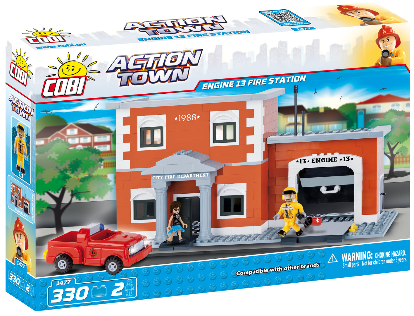 Cobi Feuerwehrstation Engine 13 Fire Station (Action Town)