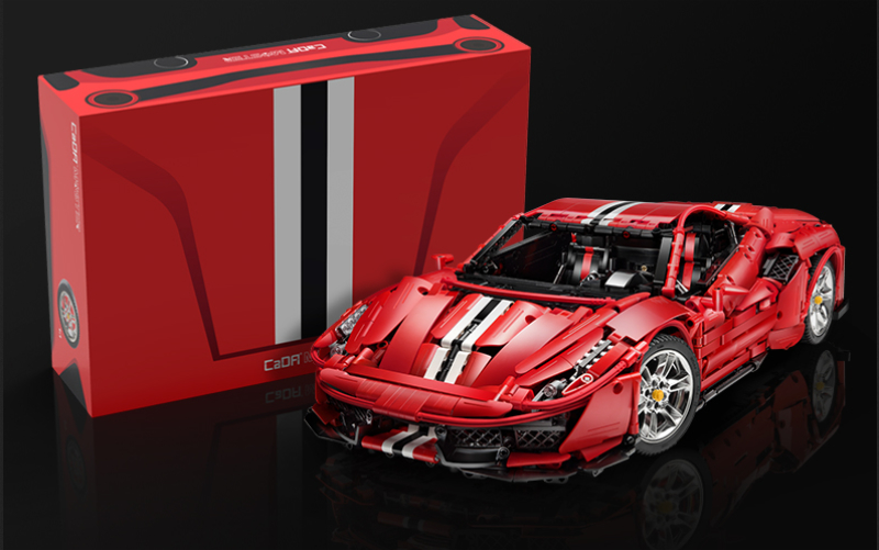 CaDA MASTER C61042W Red Super Car 1:8