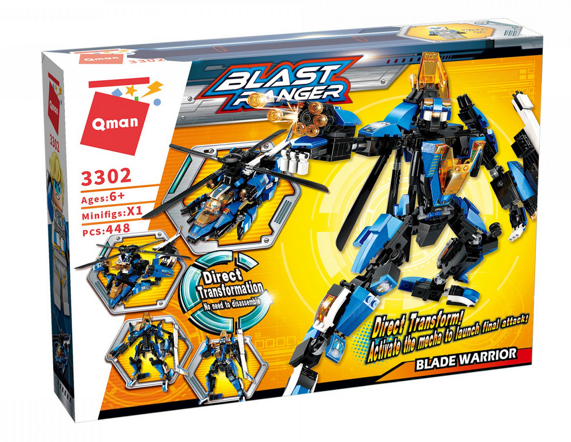 Qman 3302 Transform Blast Ranger Blade Warrior