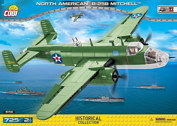 Cobi 5713 US Army North American B-25B Mitchell Pad printed (Historical Collection - WWII - Planes)