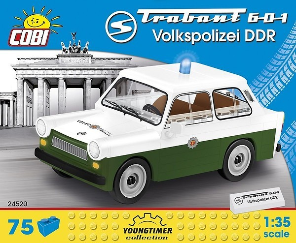 Cobi 24520 DDR Trabant 601 Volkspolizei Pad printed (Youngtimer Collection)