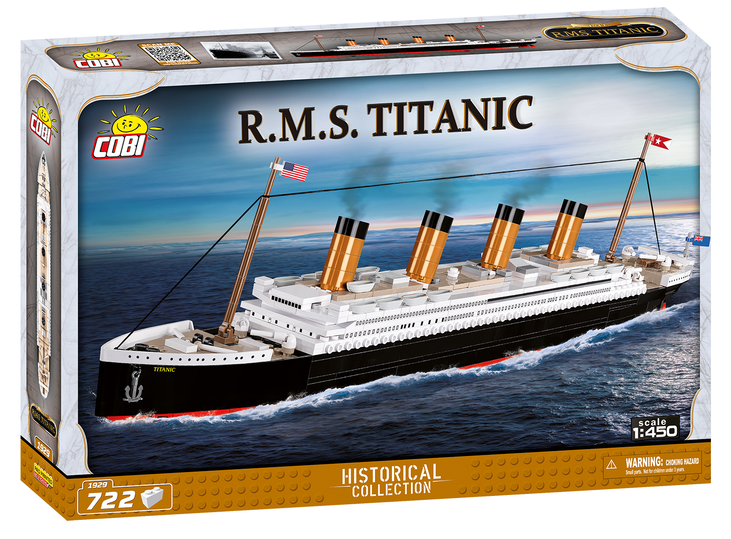 Cobi 1929 Titanic Pad printed - no Stickers