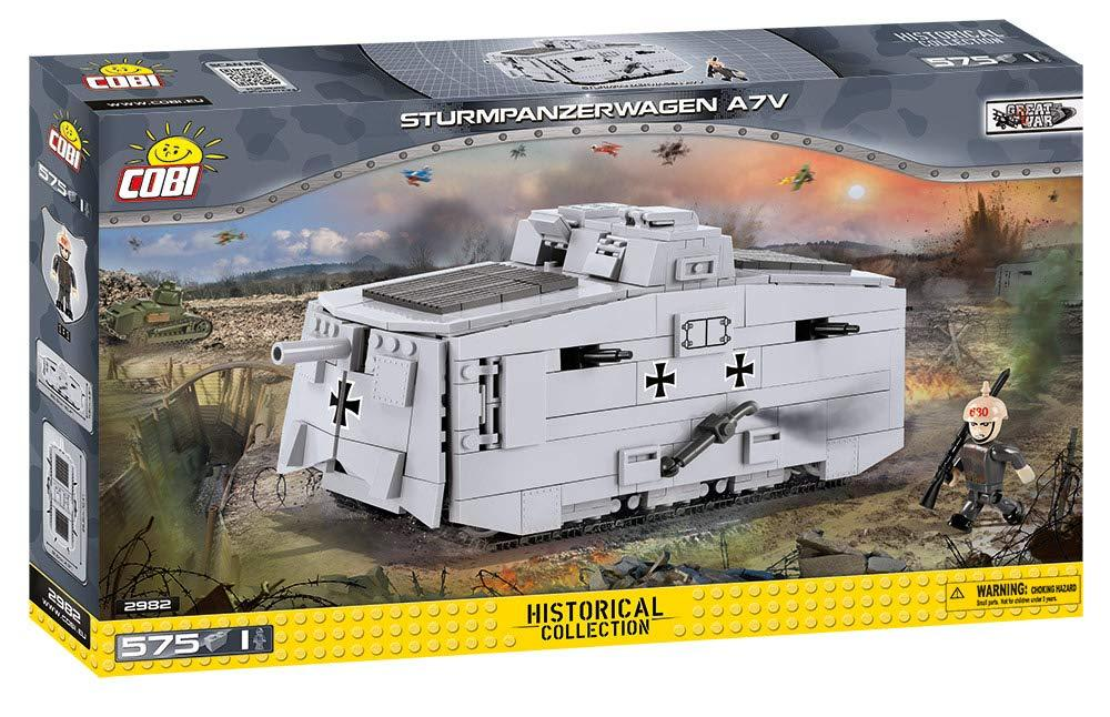 Cobi 2982 Sturmpanzerwagen A7V  (Historical Collection) 1. Weltkrieg Pad printed