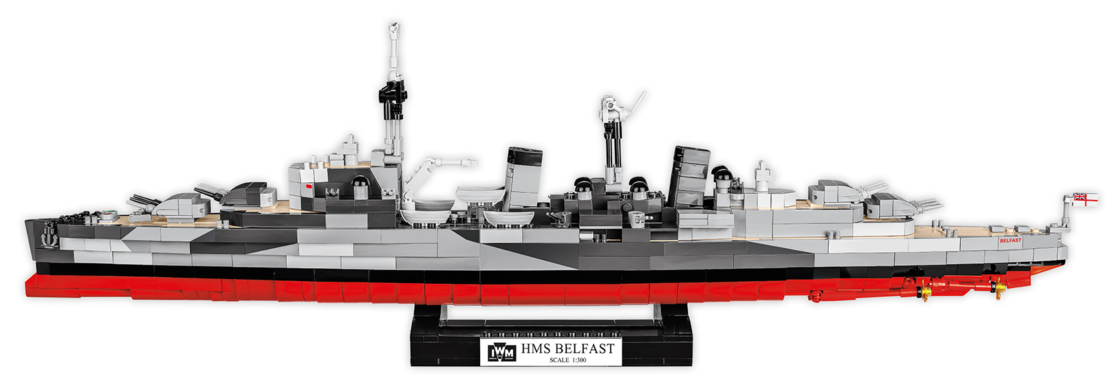 Cobi 4821 HMS Belfast Light Cruiser - Pad Printed!