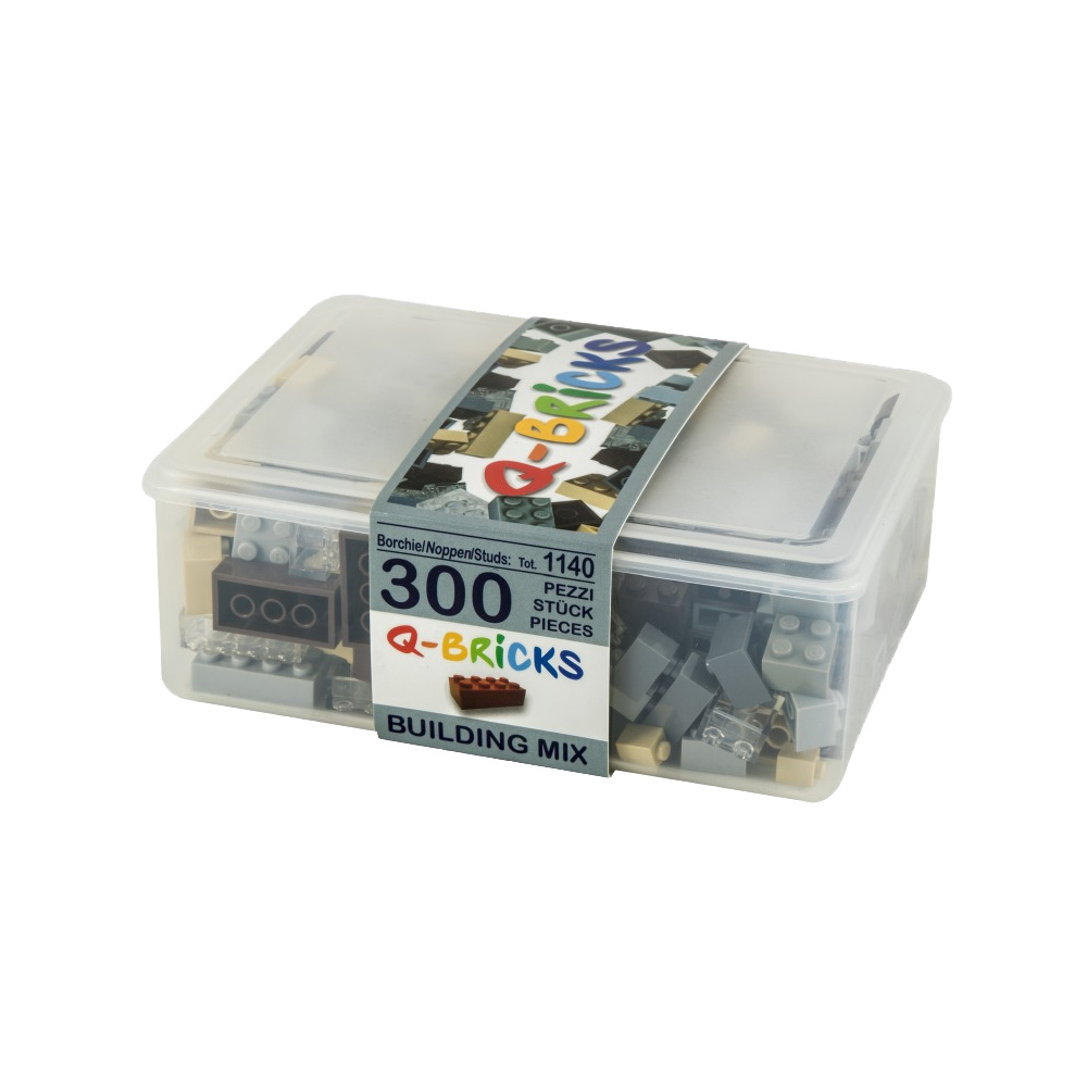 Q-Bricks 300 Teile Box Building Mix / Mischfarben