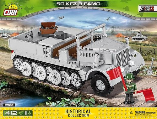 Cobi 2522 Tank SD.KFZ 9 FAMO Panzer Pad printed - no Stickers (Historical Collection WWII)
