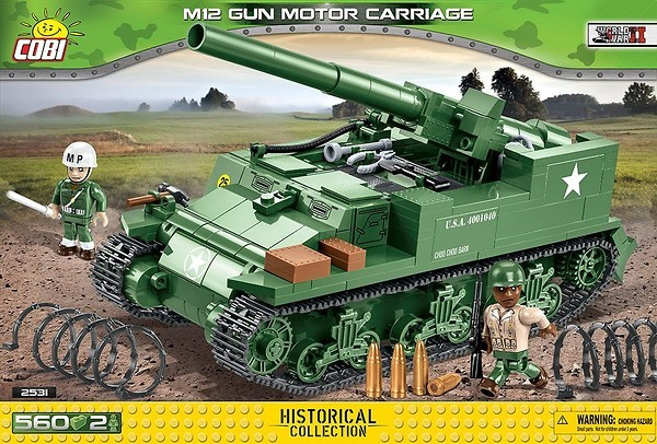 Cobi 2531 Tank M12 GM3 Gun Motor Carriage Pad printed - no Stickers (Historical Collection WWII)