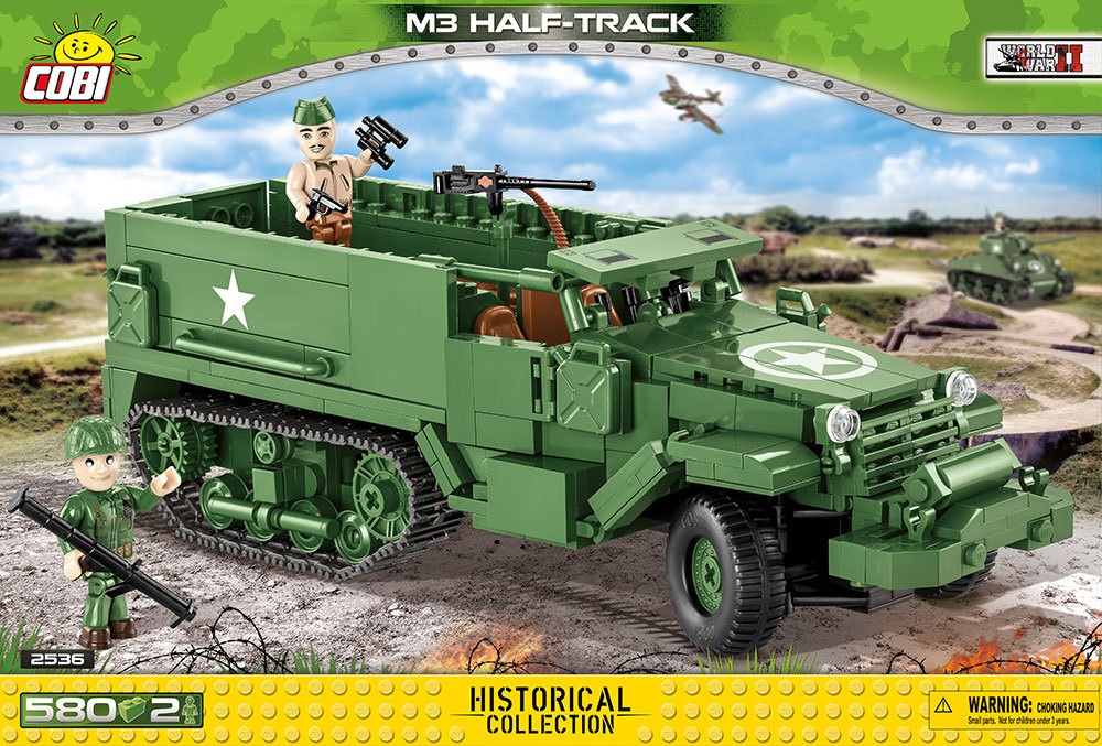 Cobi 2536 M3 Half-Track Pad printed - no Stickers (Historical Collection, WWII)