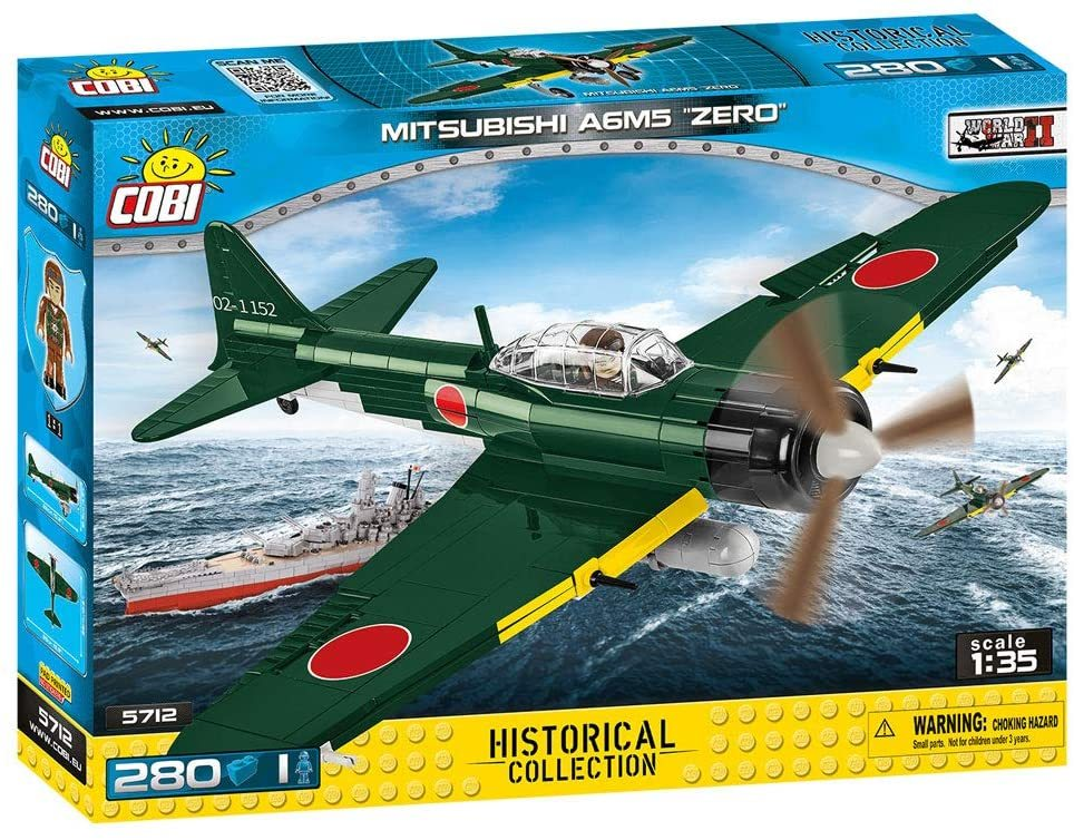 Cobi 5712 Japanische Armee Mitsubishi A6M5 Zero Pad printed (Historical Collection - WWII - Planes)