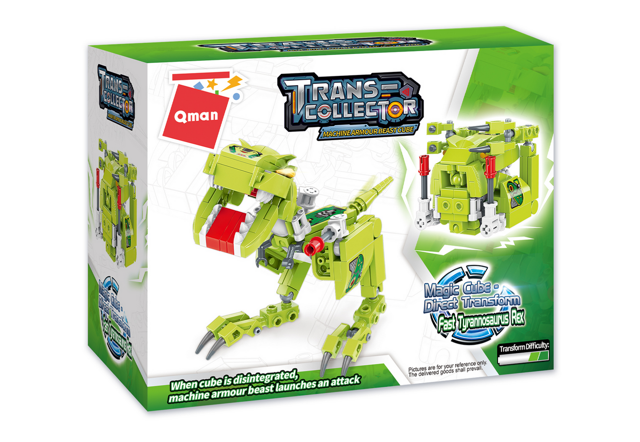Qman 41203 Magic Cube T-Rex Dinosaurier