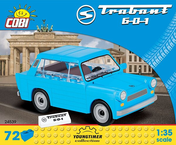 """Cobi 24539A DDR Trabant 601 """"Trabi"""" Pad printed - no Stickers (Youngtimer Collection)"""