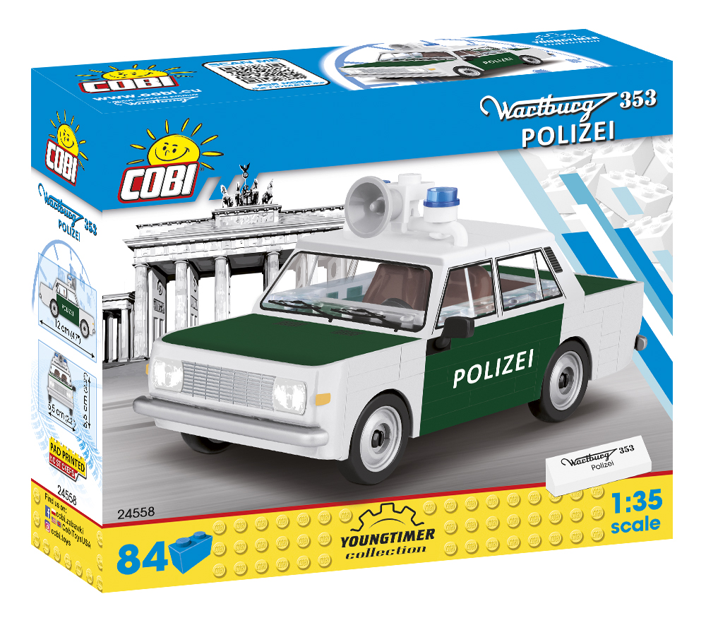 Cobi 24558 DDR Wartburg 353 Polizei -  Pad printed - no Stickers (Youngtimer Collection)
