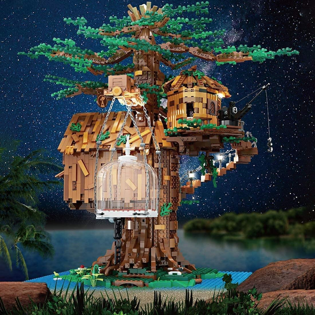 Mould King 16033 Treehouse Baumhaus mit Beleuchtung