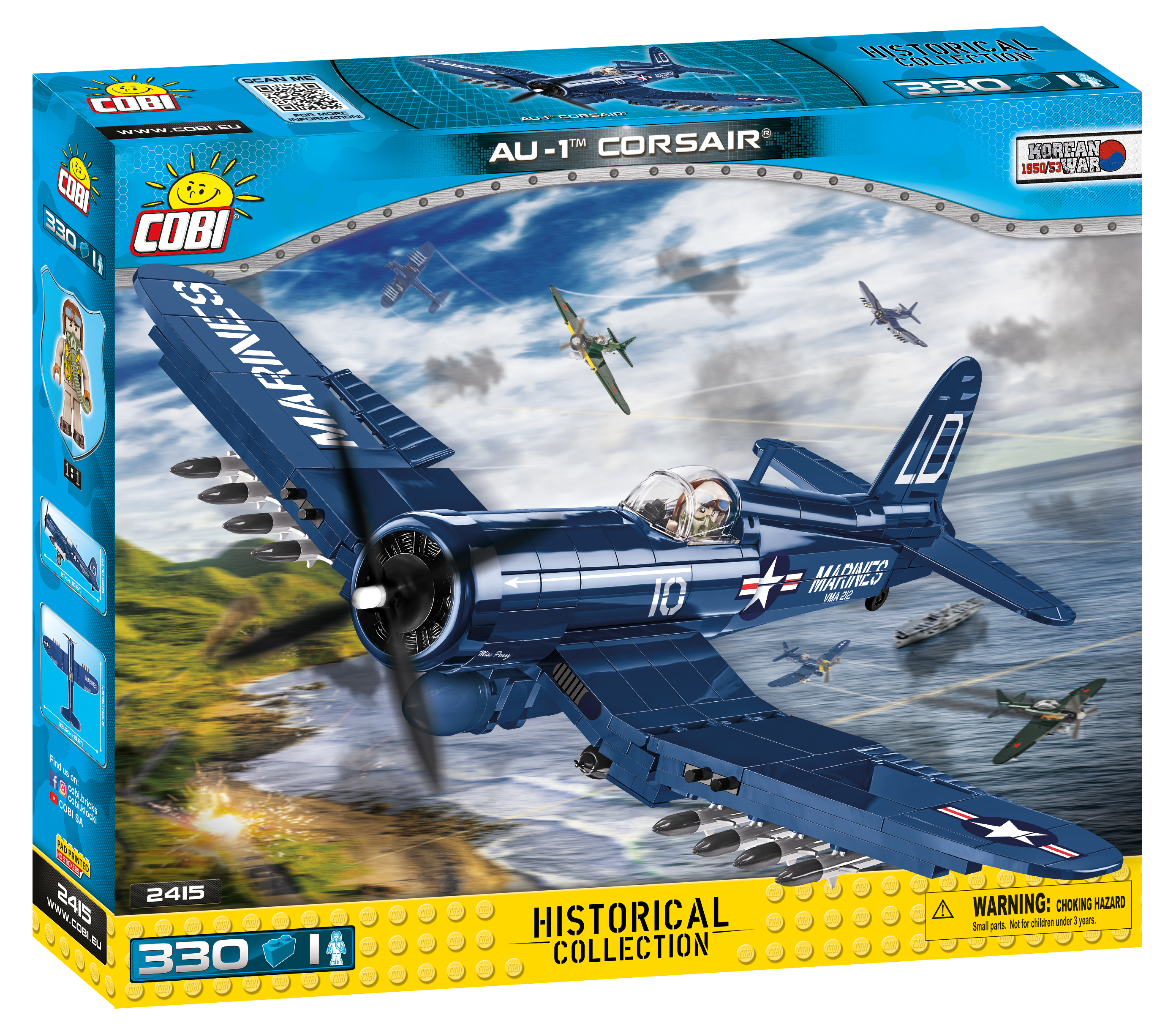 Cobi 2415 Vought AU-1 Corsair - Pad Printed -