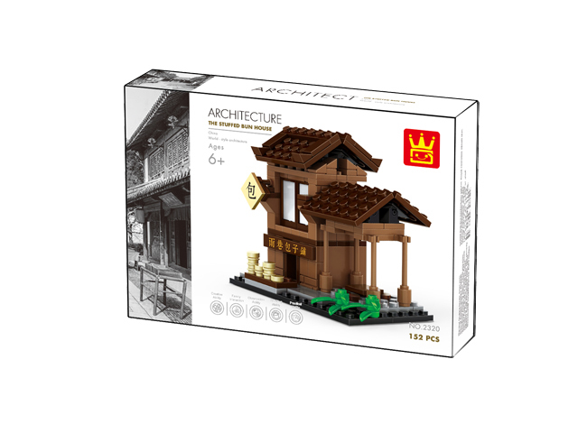 "Wange 2320 Architecture-Set ""The Stuffed Bun House"" Chinesische Bäckerei"