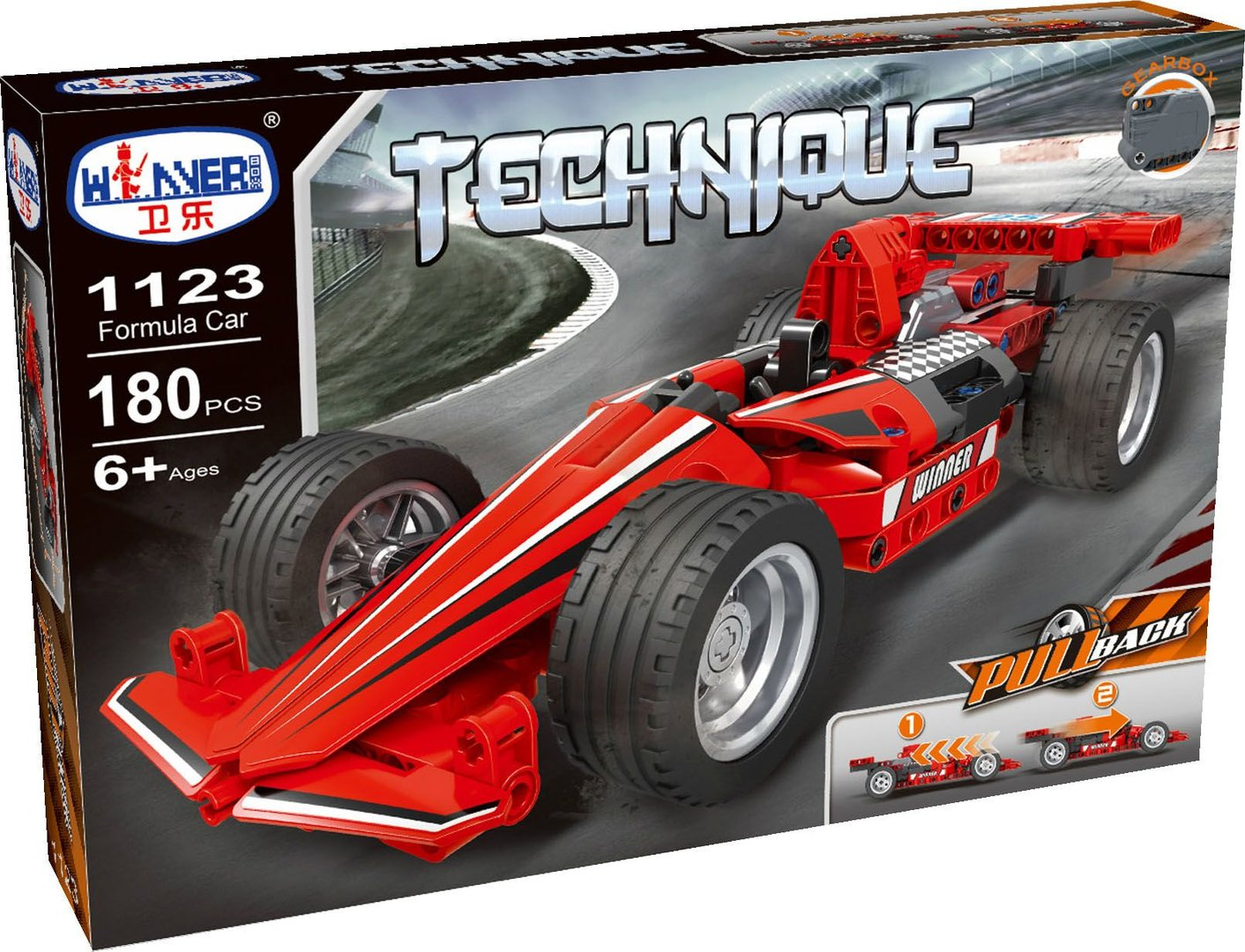 Winner 1123 Technik Rennwagen Pull Back