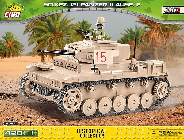 Cobi 2527 Tank SD.KFZ. 121 Panzer II Ausf.F Pad printed - no Stickers (Historical Collection WWII)