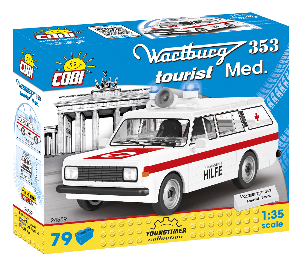 Cobi 24559 Wartburg tourist Med. Pad printed - no Stickers (Youngtimer Collection)