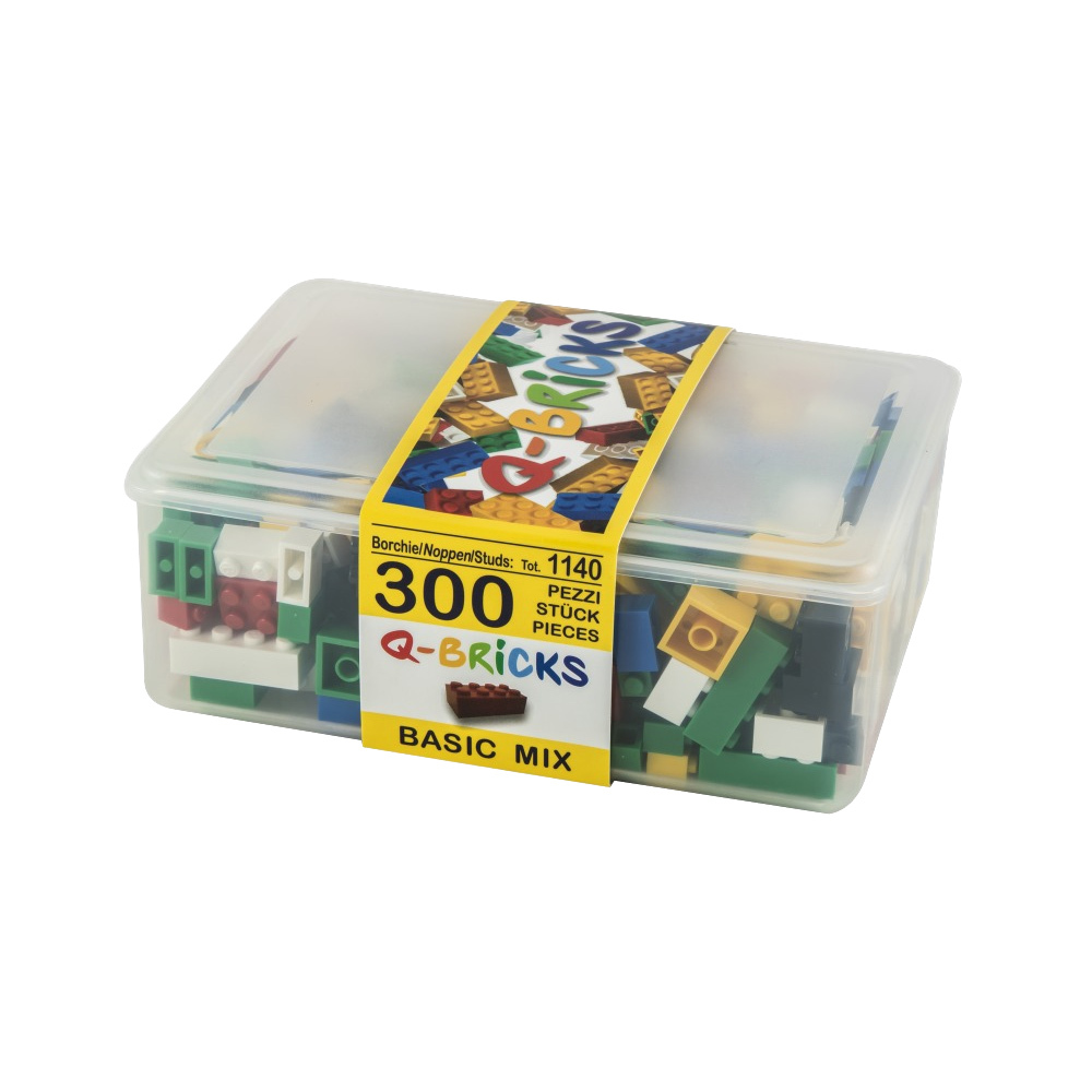 Q-Bricks 300 Teile Box Basic Mix / Mischfarben